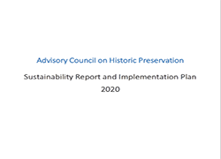 Advisory Council on Historic Preservation Plan for 2020