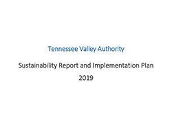 TVA Sustainability Report and Implementation Plan for 2019