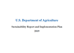 USDA Sustainability Report and Implementation Plan for 2019